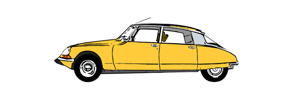 Illustration of a classic Citroen